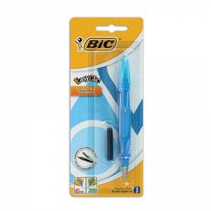 Ручка перьевая BIC EasyClic, корпус голубой, иридиевое перо,