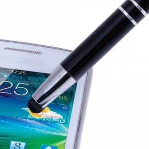Ручка-стилус SONNEN для смартфонов/планшетов, корп.черный, с