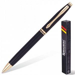 Ручка бизнес-класса шариковая BRAUBERG De luxe Black, корпус