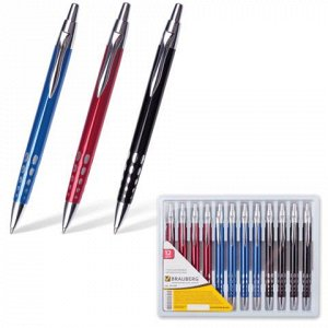 Ручка бизнес-класса шариковая BRAUBERG Frost, корпус ассорти