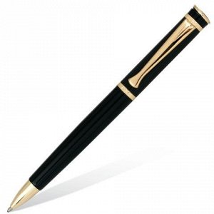 Ручка бизнес-класса шариковая BRAUBERG Perfect Black, корпус