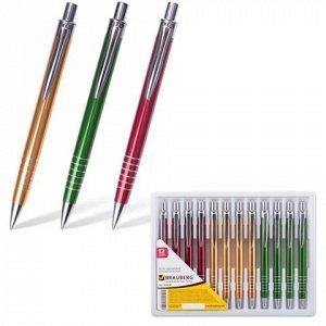 Ручка бизнес-класса шариковая BRAUBERG Quantum, корпус ассор