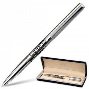 Ручка подарочная шариковая GALANT Basel, корпус серебр./черн