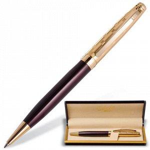 Ручка подарочная шариковая GALANT Bremen, корп. бордовый/зол