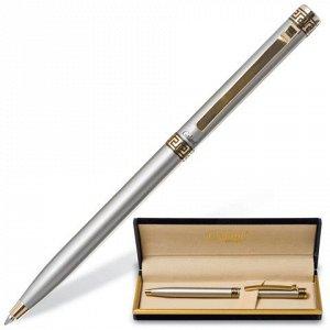 Ручка подарочная шариковая GALANT Brigitte, корпус серебр.,