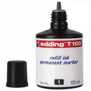 Чернила универсальные EDDING 100, 100 мл, черные, E-T100/1