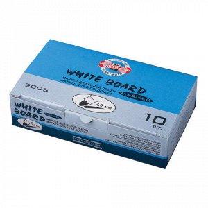 Маркер для доски KOH-I-NOOR, круглый наконечник, 2,5мм, сини