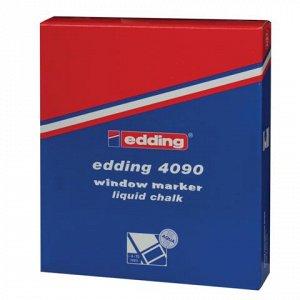 Маркер для окон и стекла EDDING 4090, 4-15мм, смываемый, на