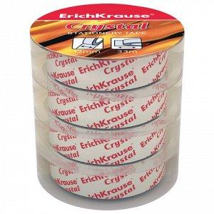 """Клейкие ленты 12ммх33м канцелярские ERICH KRAUSE """"Crystal"""","""