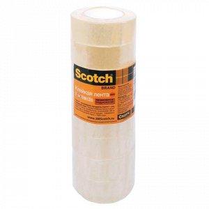 Клейкие ленты 19ммх33м канцелярские SCOTCH 500, КОМПЛЕКТ 8 ш