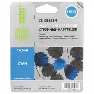 Картридж струйный CACTUS (CS-CB323/N) для HP Photosmart D540