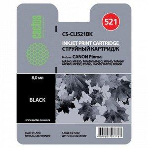 Картридж струйный CACTUS (CS-CLI521BK) для CANON Pixma MP540