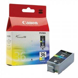 Картридж струйный CANON (CLI-36) PIXMA iP100, цветной, ориги