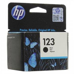 Картридж струйный HP (F6V17AE) Deskjet 2130, №123, чёрный, о