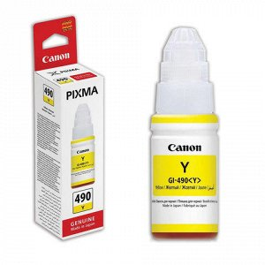 Чернила CANON (GI-490Y) для СНПЧ Pixma G1400\G2400\G3400 жел