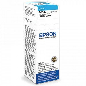Чернила EPSON (C13T66424A)для СНПЧ Epson L100/L110/L200/L210