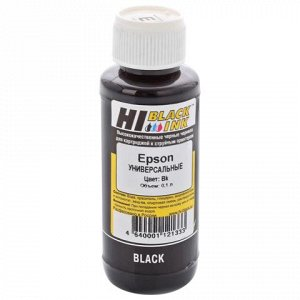 Чернила HI-BLACK для EPSON универсальные, черные 0,1л водные