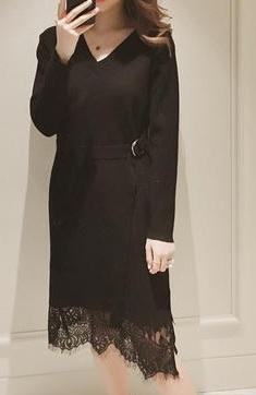 Трикотажное платье чёрное