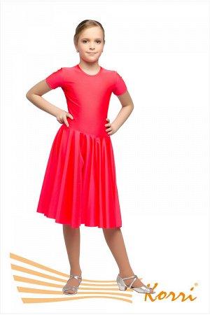 Р 35-051 Рейтинговое платье, короткий рукав, юбка двойное солнце