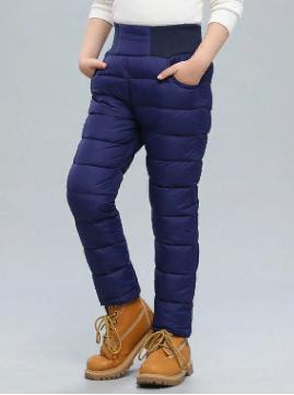 Теплые ветрозащитные брюки цвет синий