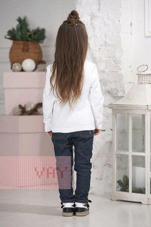 Джемпер для девочек. Цвет: 10054/02/83 белый/антрацит/рапсод