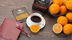 """""""Апельсин"""" Натуральный молотый кофе в дрип пакетах с нотками апельсина   Состав: 100% арабика, рейши    В упаковке 10 дрип-пакетов"""