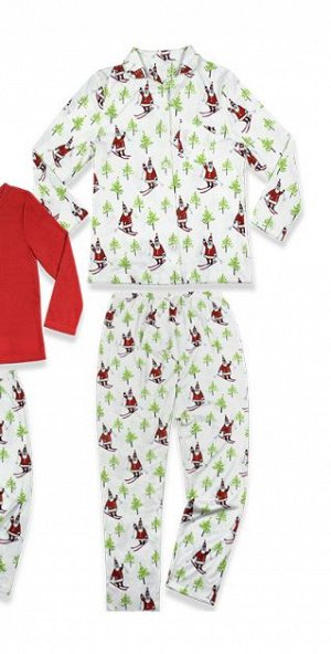 Новогодняя Женская и детская пижамы для фото
