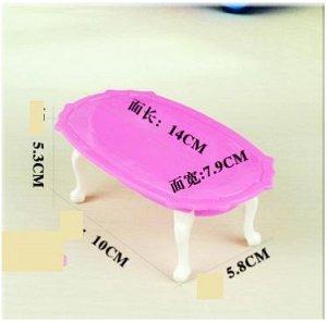 Столик Размер на доп. фото. Приходит в разобранном виде. Упакован в пакет. Размер стола 14 * 8 * 5,2 см.