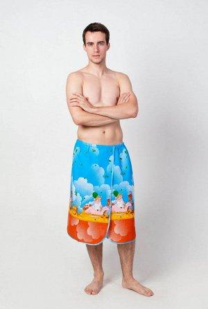 Полотенце-накидка вафельная мужская