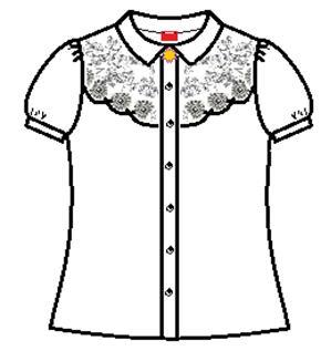 Блузка белый короткий рукав