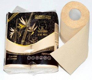 Полотенце кухонное  INSHIRO Pur Pur 100% Bamboo 2-х. 85 листов. сл. 2 рул.1/20 PP 566