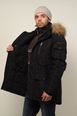 Мужская зимняя куртка-парка Hollies, цвет Black