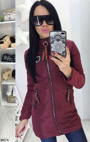 Куртка Цвет: бордовый Ткань: плащевка Наполнение: синтепон 100 Сезон: демисезонное
