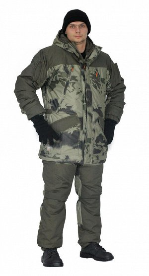 "Костюм зимний «ГЕРКОН» куртка/брюки, цвет: кмф ""смог""/т.олива, ткань: Алова/Финляндия"