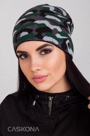 Caskona SOLDIER ШАПКА зеленый/перламутр Арт.: CS 115807