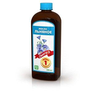 Льняное масло первого холодного отжима. 500 мл
