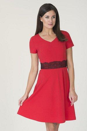 Платье Цвет: темно-алый 72%полиэстер 25%вискоза 3%эластан
