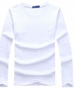 мужская белая футболка с длинным рукавом на лето