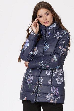 Стильная теплая курточка оригинальной расцветки