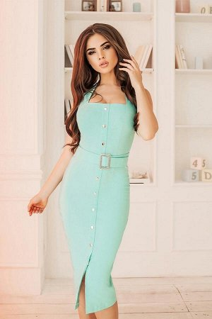 Очень классное платье)) Джинсовое платье-миди на кнопках. Цвет Нежный персик.