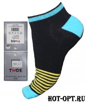 Мужские короткие цветные носки.