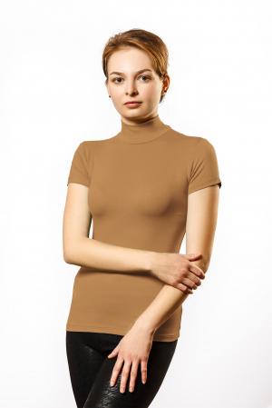 """Водолазка Водолазка женская прилегающего силуэта  с воротником """"стойка"""" и коротким рукавом. Выполнена из гладкокрашенной ткани. Состав ткани: 95% хлопок, 5% лайкра Плотность — 160 г/м2"""
