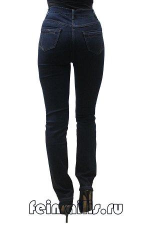 Слегка приуженные синие джинсы SS71559-4107-1 рр 7(42)