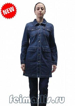 Кардиган джинсовый синий . Размер 21(56)
