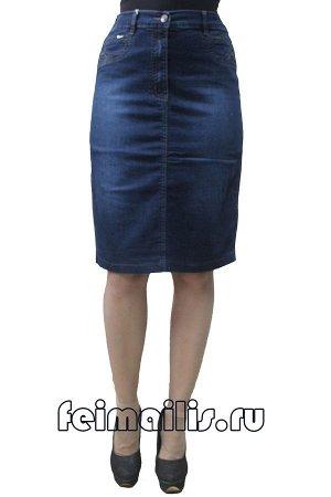 Юбка джинсовая синяя . C72213-161-2C рр 21(56),