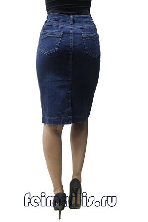 Юбка джинсовая синяя . C71915-4005-2 рр 23(58),