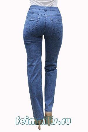 Слегка приужен голубые джинсы с рис S70536-2464-3 рр 9(44)