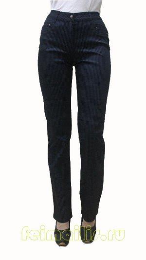 Слегка приуженные черные/синяя клетка брюки SS70350 рр 7(42)