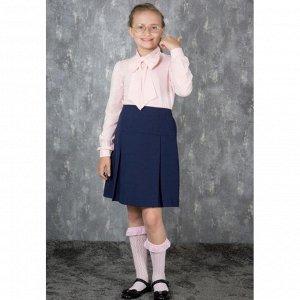 Юбка для девочки школьная синяя