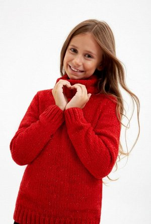 Пристрою яркий, тёплый, нарядный свитер! Р. 158-164